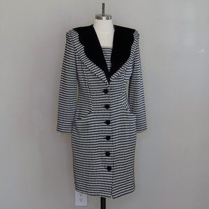 All That Jazz Vintage 80s Structured Suit Dress M